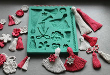 Silicone molds fondant cake decoration tassel food-grade sugarcraft silicone mould clay moulds