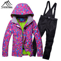 SAENSHING Women S Ski Suit Winter Thicken Warm Mountain Skiing Suit For Women Waterproof Outdoor Ski