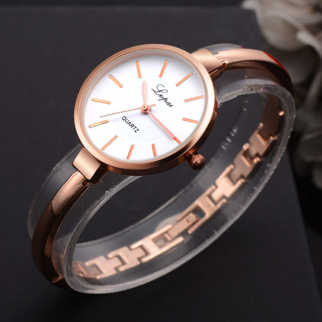 Lvpai Rose Gold Women Bracelet Watches Fashion Luxury Quartz-Watches Brand Ladies Casual Dress Sport Watch Clock Dropshiping 1