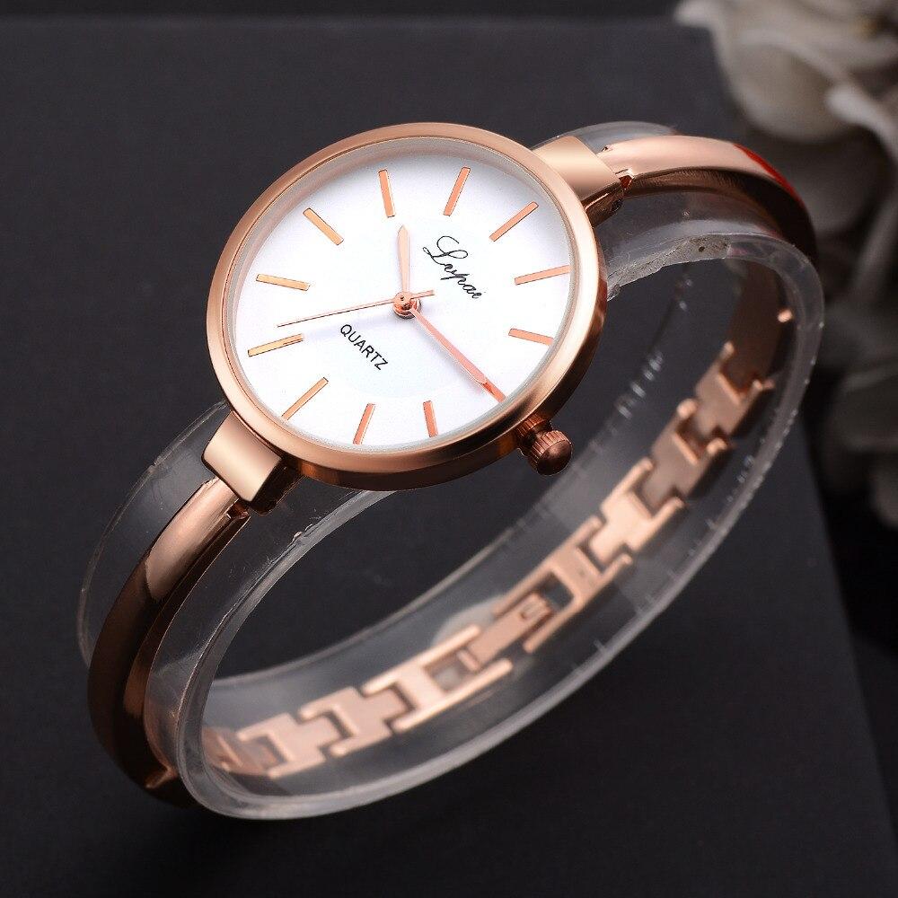 Lvpai rose goud vrouwen armband horloges mode luxe quartz-horloges - Dameshorloges - Foto 2