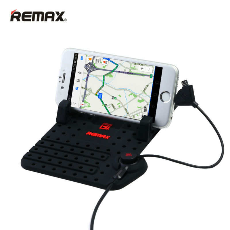 bilder für Remax Universal Mobile Auto Handyhalter für iPhone Samsung Einstellbar Bracket Telefon GPS Halter Stehen für Auto Halter + USB kabel