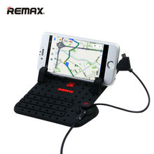 Remax Universal Mobile Car Phone Holder for iPhone Samsung Adjustable Bracket Phone GPS Holder Stand for Car Holder + USB Cable