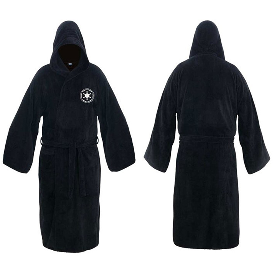 Men's Clothing Star Wars Jedi Knight Bath Robe For Man Black