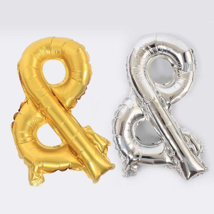 Foil Aluminum Balloon Helium & Sign Digit Air Balloons Wedding Decoration Birthday Event Party Souvenirs Supplies