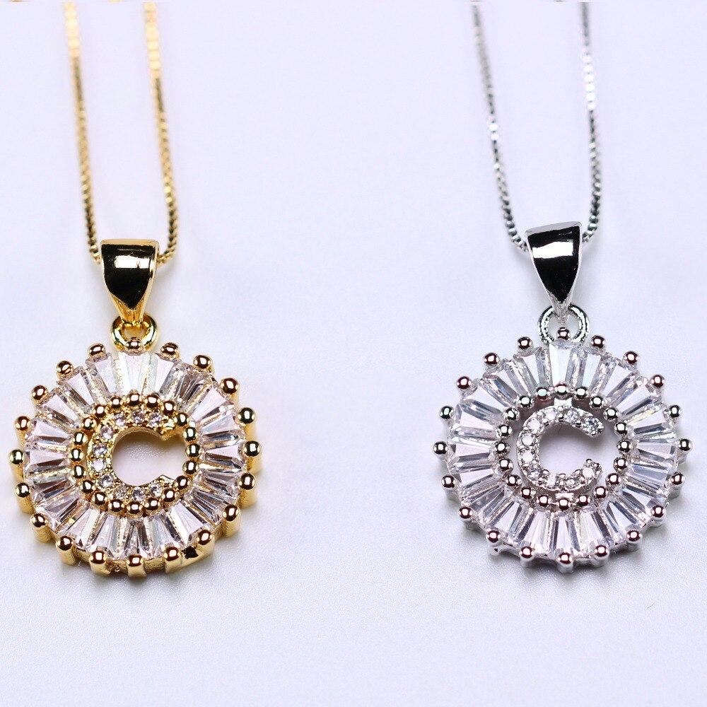 d98ee9c09065f Alphabet Pendant Necklace personalized Initial Letter Necklace ...