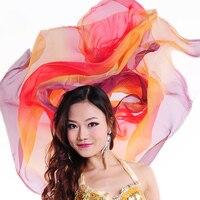Cheap Women Veils Dance Accessories Shawls 2 1 Meters Light Texture Silk Gauze Scarves Silk Chiffon