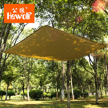 Hewolf Ultralight 2 Orang Veins Of Water Tahan Air Multi-Penggunaan Kerai Tenda Outdoor Taman Pantai Camping Piknik Sun Perlindungan Kanopi(China)