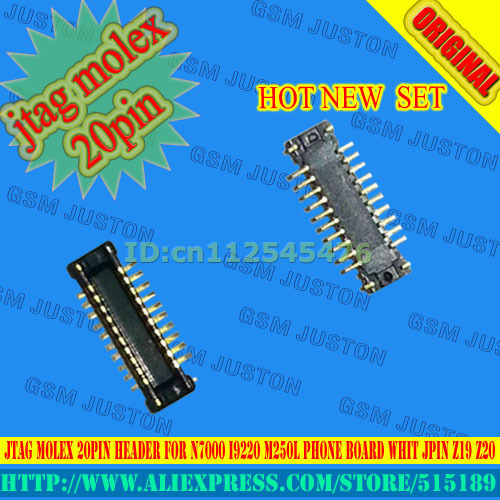 JTAG molex de $ number Pines conector para N7000 I9220 M250L bordo teléfono whit JPIN Z19 Z20 10 unids