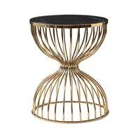 디럭스 대리석 엔드 테이블 거실 라운드 금속 커피 테이블
