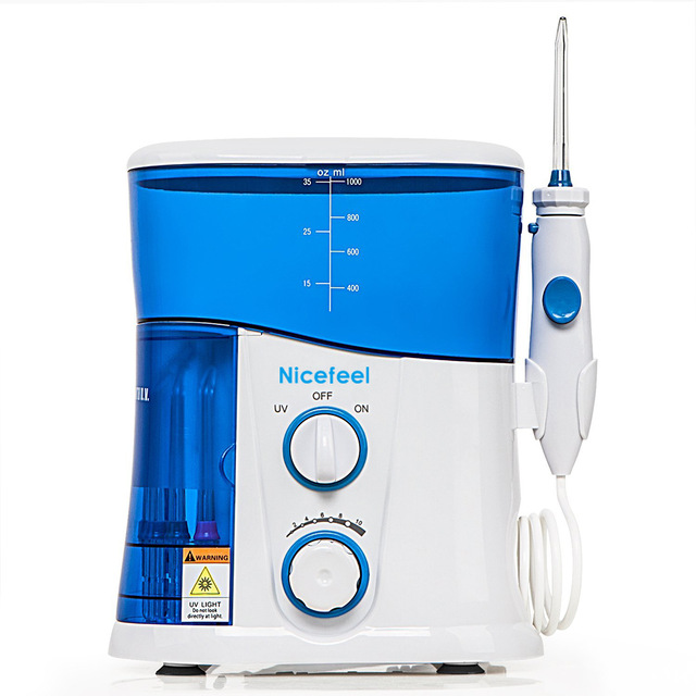 Dental Care NICEFEEL Rechargeable Water Pick Teeth Cleaning Oral Irrigator FC-188 Dental Water Jet Flosser With 7pcs Jet Tips oral irrigator faucet water flosser power dental water jet oral care teeth cleaner spa dental irrigator irrigation with 6 tips