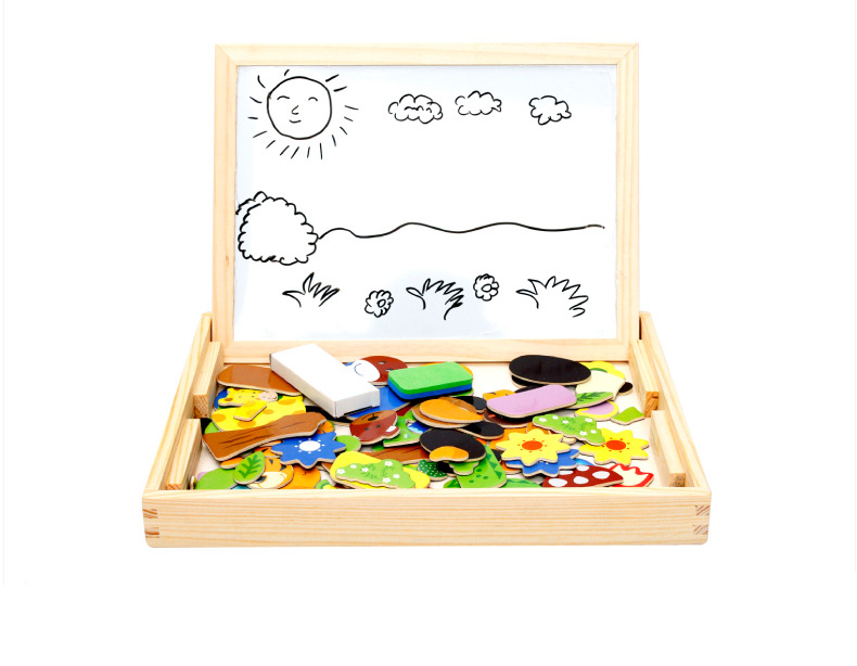 magnética quebra-cabeça duplo cavalete criança brinquedo de