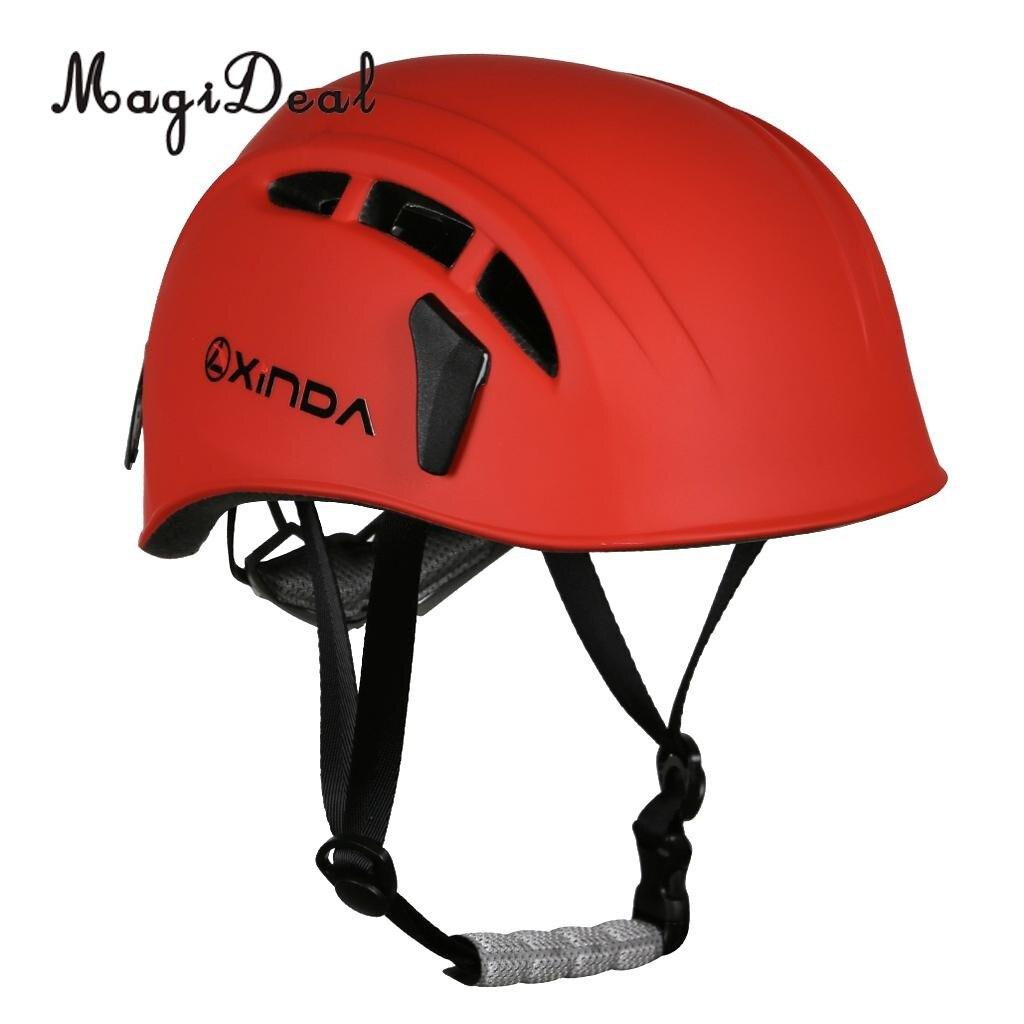 4472f874d7 MagiDeal casque de sécurité Escalade Arbre Spéléologie Kayak Rappel  Sauvetage Dur Chapeau pour En Plein Air