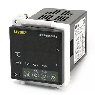 DC/AC 12-24V -50-1700C Temperature Temp Thermostat Control Relay Controller ac 250v 20a normal close 60c temperature control switch bimetal thermostat