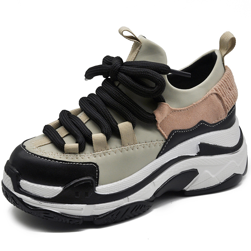 Chunky Sneakers Fashion White Sneakers Women Shoes Platform basket femme  Black Sneakers 2018 Casual Shoes Woman chaussure femmme-in Women s  Vulcanize Shoes ... fceba0c012a9