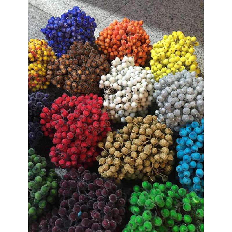 40 шт. головок DIY ручной работы плодов граната материал моделирование растений ягоды цветок Малый Берри плетеная венок материал 65Z