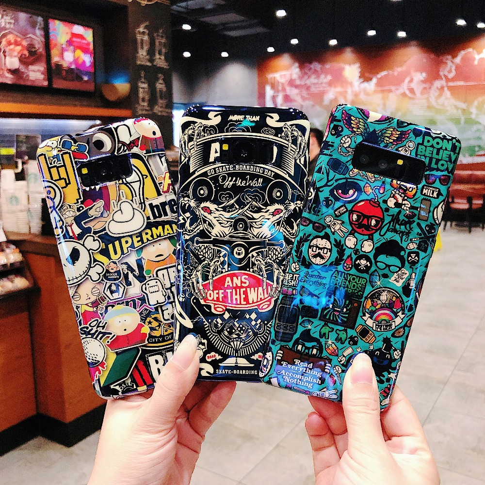 best sneakers a26a4 c91e0 US $3.51 9% OFF|Fashion Patterned Fancy Label Logo Brand Case For Samsung  Galaxy S8 S9 Plus Note 8 9 S8Plus Note8 Phone Cases Back Cover Shell-in ...