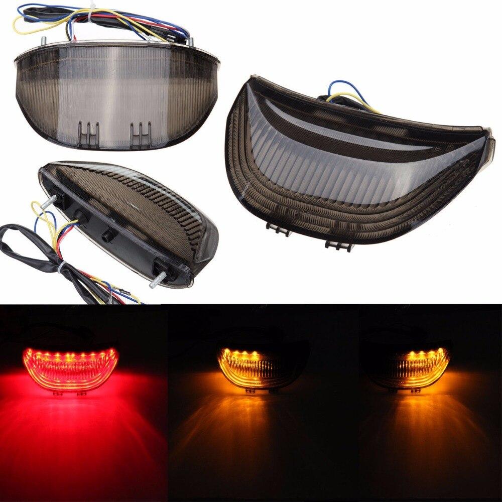 Integrated LED Brake Tail Light Turn Signals For Honda CBR 600 RR CBR600 2003 - 2006 CBR1000RR 1000 RR 2004 - 2007 motorcycle parts led tail brake light turn signals for honda cbr 600rr cbr1000rr rr fireblade smoke