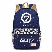 WISHOT GOT7 Kpop холщовый мешок цветок волновой точки рюкзаки рюкзак для подростков девочек женщины школьные сумки Дорожная сумка