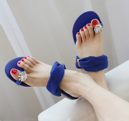 2015 NEW ! Sexy Women flat sandals for Lady flats and women slipper & Black,Blue,Beige