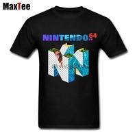 Big Alto Vaporwave 64 Camicia Mens di Disegno Semplice Marca Manica Corta Da Uomo T-Shirt All'ingrosso 90 s Abbigliamento