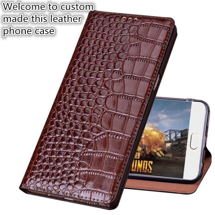 TZ04 genuine leather phone bag for font b OnePlus b font font b 7 b font