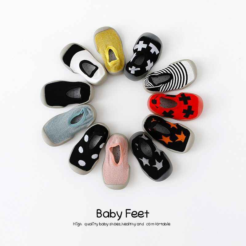 LXXU Baby Shoes Non-slip Soft Rubber Bottom Cotton Material Breathable Sweat Thin Multi Color Baby Toddler Socks