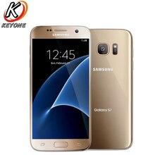 "Orijinal t mobile versiyonu Samsung Galaxy S7 G930T 4G LTE cep telefonu 5.1 ""4GB RAM 32GB ROM dört çekirdekli NFC 12MP kamera cep telefonu"