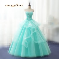 Quinceanera Dresses Prom Party Long Sweet 16 Dresses Masquerade Mint Green Ball Gown Quinceanera Gowns vestidos de 15 anos