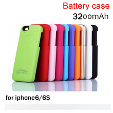 Wireless charging case 7 colors 3200mAh External Battery Case Backup Charger Case Cover Power Bank For  iPhone 6 6s 4.7″