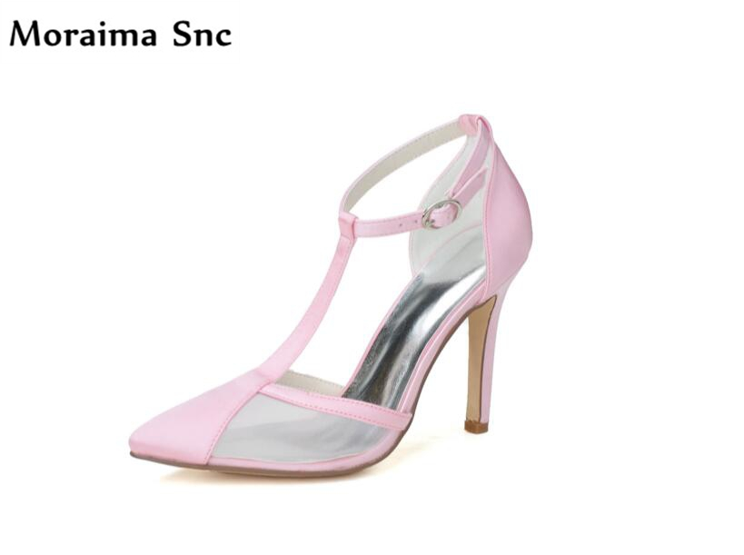 Moraima Snc Newest sexy women Rome type sandals pointed toe Ankle strap buckle mixed colors sexy thin high heel female shoes moraima snc newest sexy women black string bead concise type sandals open toe thin high heel ankle strap hook solid party shoes