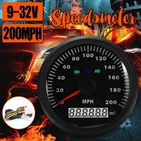 waterproof 200MPH GPS Speedometer gauge Pointer display Odometer 85MM GPS speed odometer with direction lights 9 32V