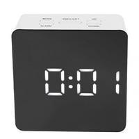 1Pcs Clock Alarm Multi Function Digital Mirror Clock LED Snooze Function Night Light Temperature Display Alarm
