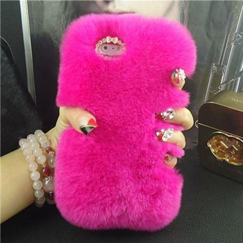 LaMaDiaa Fashion Luxury Warm Soft Rabbit Fur Skin Funda para Samsung - Accesorios y repuestos para celulares - foto 6