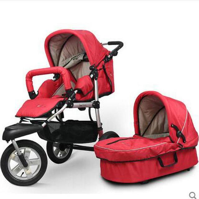 31 CM roda de ar de borracha conjunto de alta qualidade frame da liga de Alumínio do bebê carrinho de bebê e berço carrinho de criança berço conjunto de dobrar carrinho