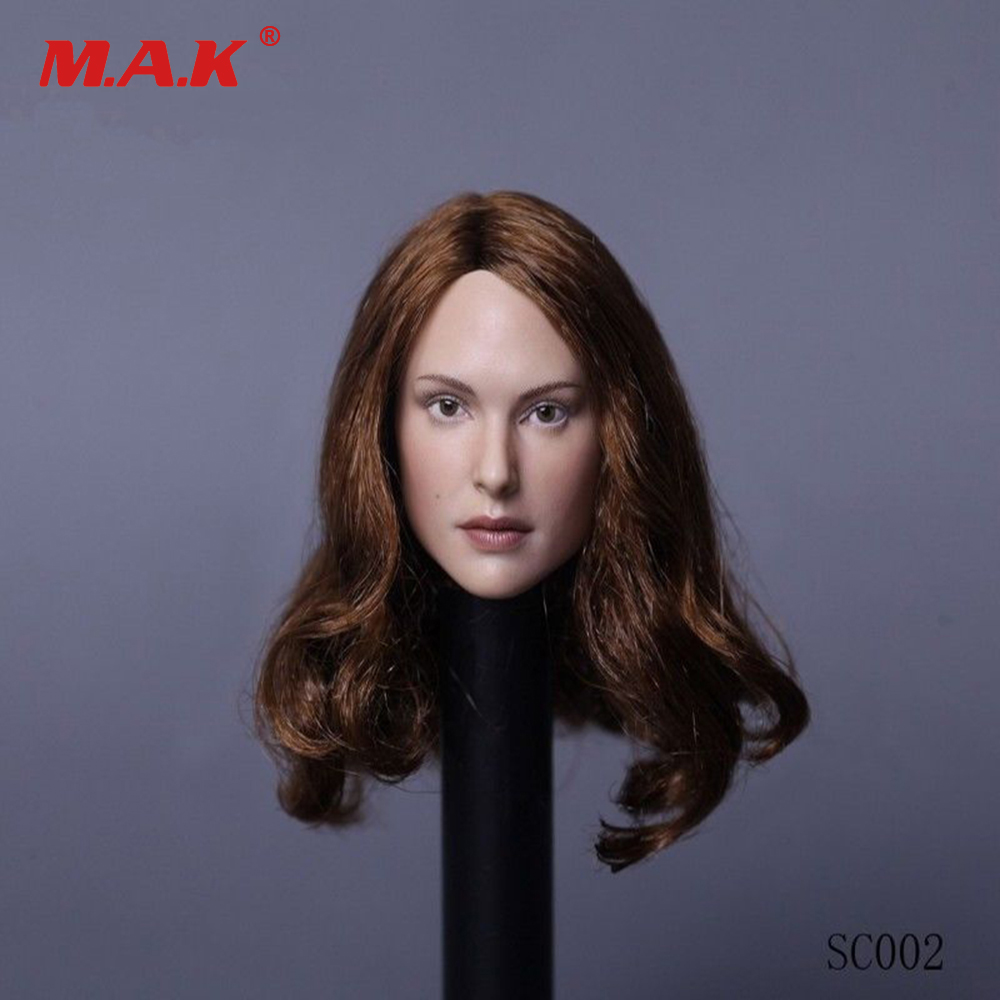 "1:6 Scale Natalie Portman curls Hair Head Model For 12/"" Female Figure Pale Body"