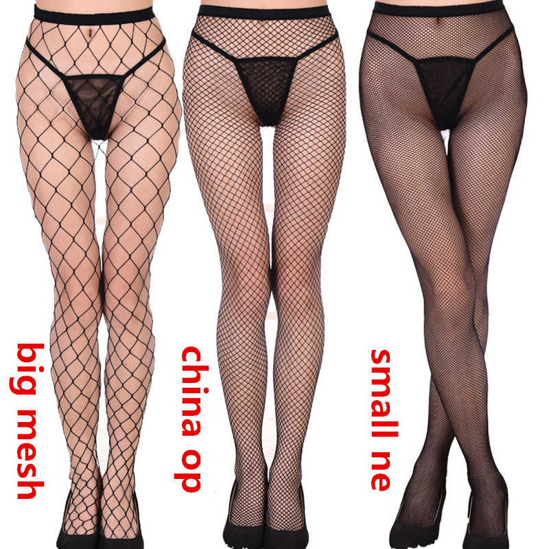 Top Quality Sexy Design Lace Garter Transparent Black Fishnet Stockings Sheer Tight Embroidery Pantyhose Net Lace Tight Slim