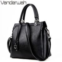 VANDERWAH Women Handbags Famous Brands Luxury Handbags Women Bags Designer High Quility PU Leather Solid