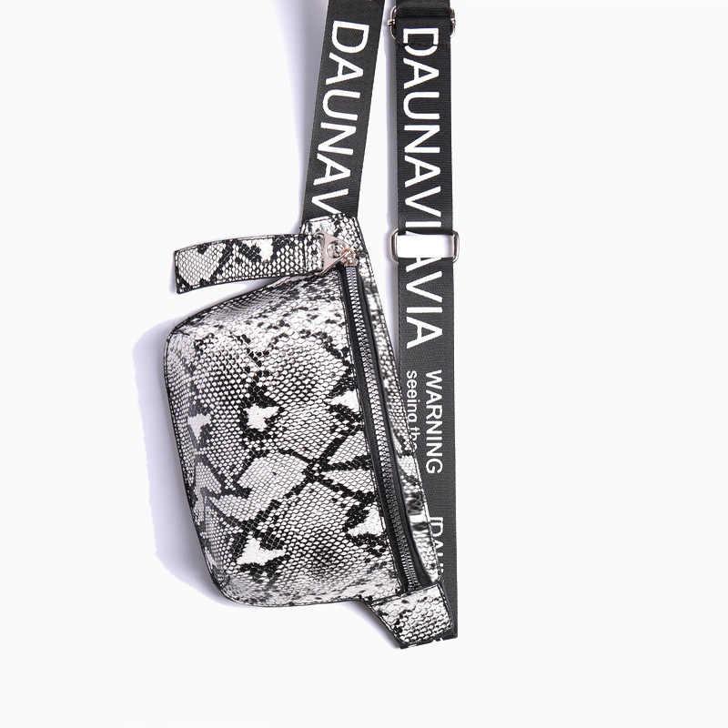 DAUNAVIA 蛇行胸バッグ女性ファッションデザイナーベルト胸パッケージミニ対角線女性のバッグの高級ベルトパッケージウエストパック
