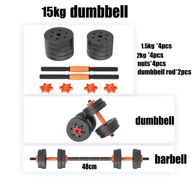 Adjustable Dumbbells South Africa: 15 Kg Adjustable Gym Equipment Dumbbell 2 In 1 Dumbbell