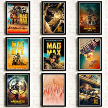 Poster Mad max Fury road Tom Hardy Charlize Theron Movie Poster White cardboard sticker poster(China)
