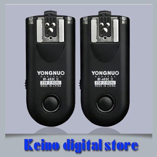 Yongnuo RF-603 II c1, Rf603ii C1 беспроводная вспышка триггера 2 трансиверы для может и н гб-70d 60D 650D 700D 600D 550D 450D 100D 1100D