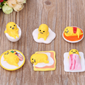 6 pçs/saco venda Quente Anime Desenhos Animados Bonitos Gudetama MiniFigures Toy/5 cm Filme Figuras Brinquedos melhor presente para o miúdo/mp7