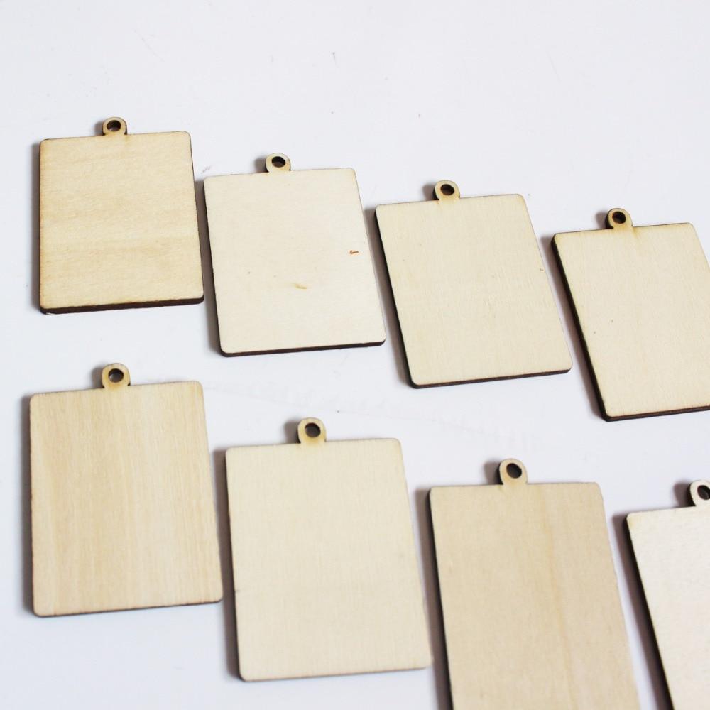 60pcs/lot (6 design) Unfinished Wood Frame Charm Pendent Round ...