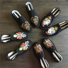 Mazefeng Traditional Chinese Style Male Casual Shoes Classic Handmade Cloth Shoes Men Loafers Men Flats Shoes Embroidery lily embroidery women loafers shoes chinese style old peking mary janes button strap casual flats plus 41 dance cloth shoes
