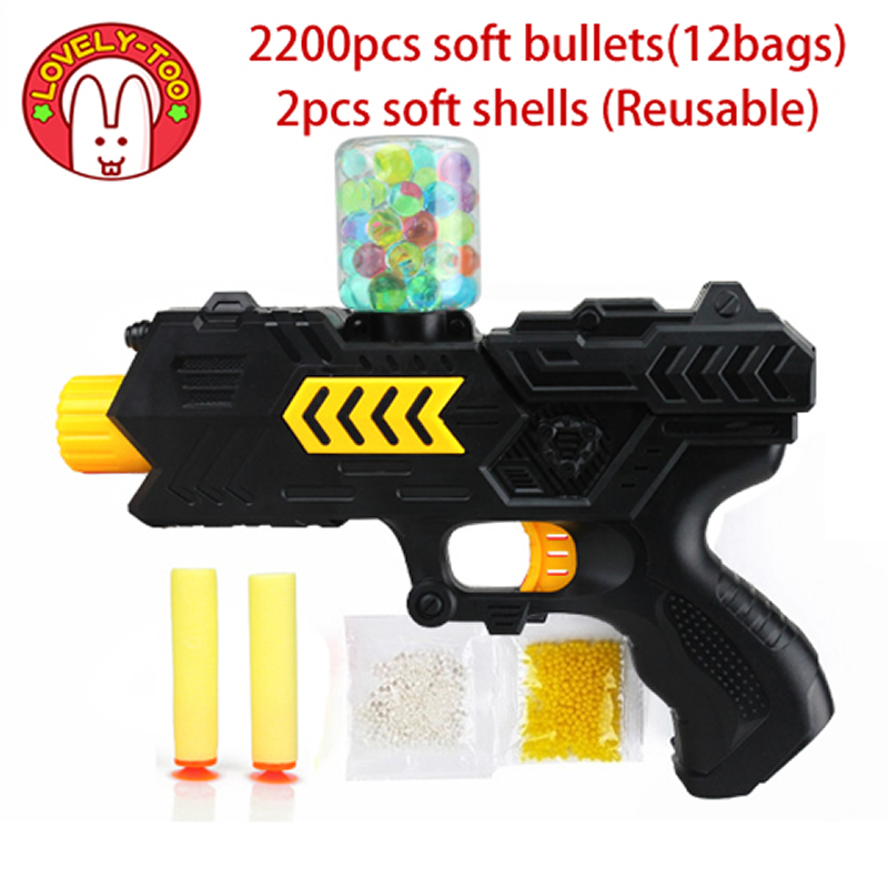 Paintball soft  gun water orbeez gun EVA bullet + water bomb dual-purpose pistol bursts of crystal toy shooting nerf