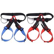 Outdoor Sports Rock Climbing Harness Waist Support Half Body Safety Belt Material: Polyester + Strong Wire Blue Black, Red Black цена