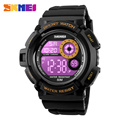 Skmei 1222 New Men Women Sport Watch Big Dial Digital Wristwatch 7 Colors EL Light Chrono Alarm Waterproof Relogio Masculino