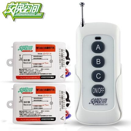 JD211A1N2 Two Ways Digital RF Wireless Remote Control Switch 220V 2Ch Receivers And 1 Transmitter 110V 433mhz 2 working ways rf wireless intelligent