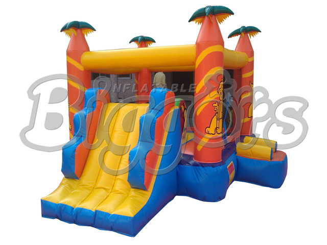 FREE SHIPPING BY SEA Popular Commercial Inflatable Bouncer Inflatable Trampoline With Inflatable Slide For Sale free shipping by sea kid inflatable bouncer for sale with inflatable slide