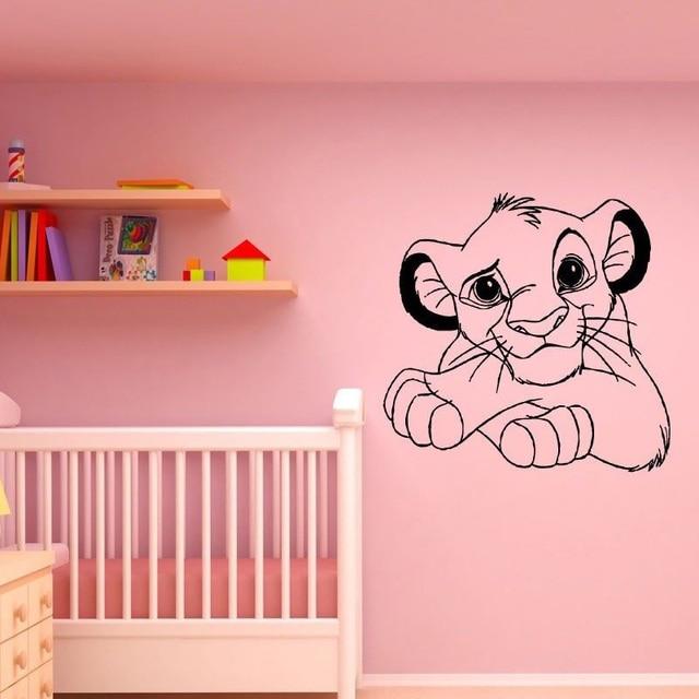 Dibujos Animados León cachorro extraíble pegatinas de pared para ...